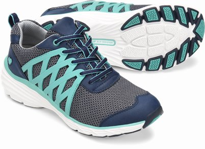 Align鈩� Brin shoes shown in navy & teal