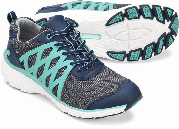 Align™ Brin shoes shown in navy & teal