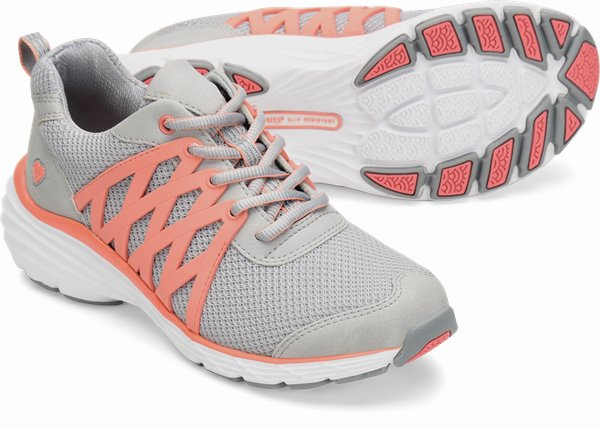 Align™ Brin shoes shown in Grey & Coral