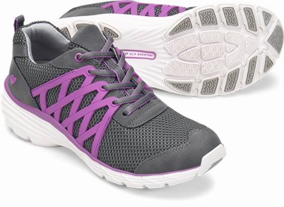 Align鈩� Brin shoes shown in GREY & PURPLE