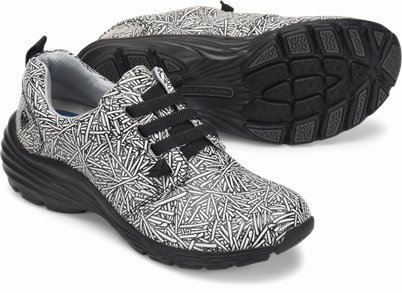 Align™ Velocity shoes shown in black & white sparkler