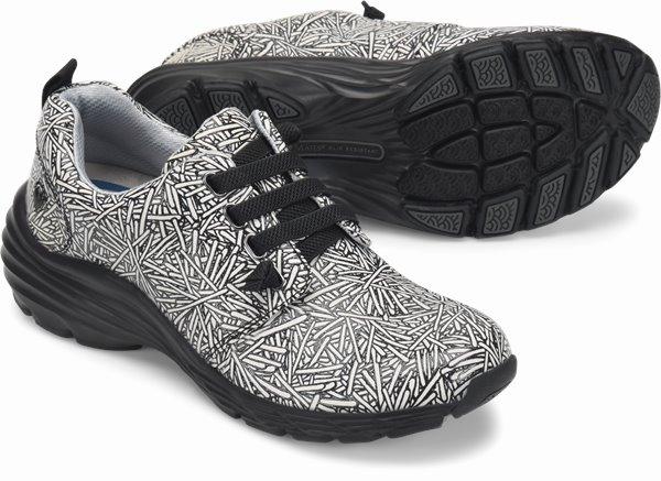 Align™ Velocity shoes shown in black & white sparkler