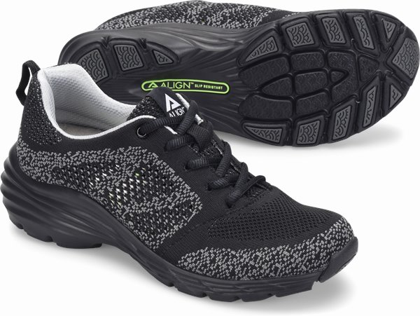 Align™ Tabor shoes shown in black woven
