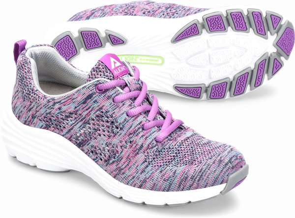 Align™ Tabor shoes shown in purple woven