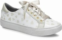 Align™ Hope shoes shown in white & gold hearts