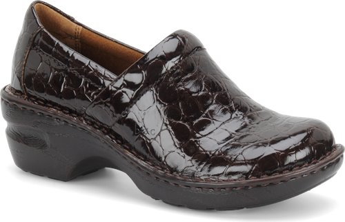 Oxford Brown Patent Croc BOC Peggy