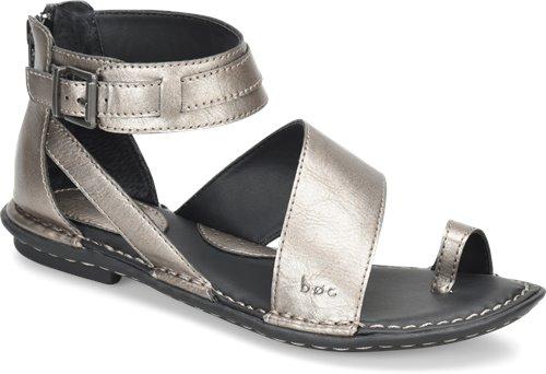 330b1f9fb3702c BOC Leila in Pewter Metallic - BOC Womens Sandals on Shoeline.com