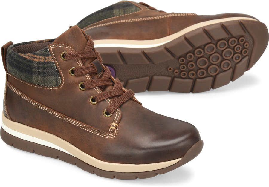 Bionica Tucson : Aztec Brown/Olive Plaid - Womens