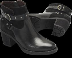 Derica in color Black Full Grain / Suede Combo