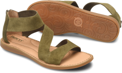 Irie in color Army Green Suede