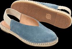 Shilo in color Blue Denim Suede