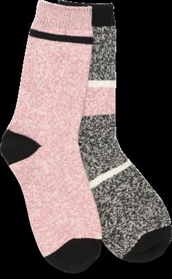 Super-Soft Socks - 2 Pack in color Pink Black Multi