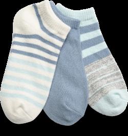 STRIPED ANKLE SOCKS 3 PACK in color BLUE