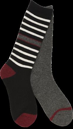 Boot Socks - 2 Pack in color Black Multi