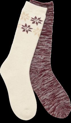 Boot Socks - 2 Pack in color Ivory Multi