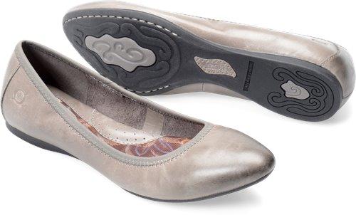 Born Halle In Graphite Born Womens Flats On Bornshoes Com
