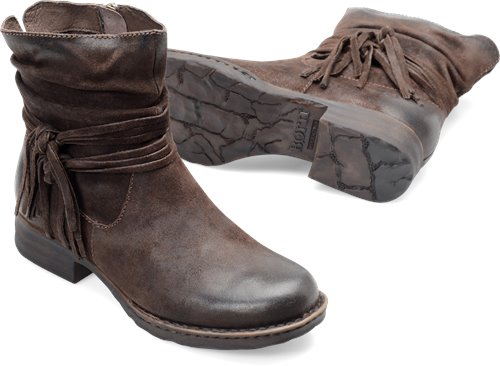Awesome Brown Born Boots size 9 12 Low boots Ankle strap Block Heel