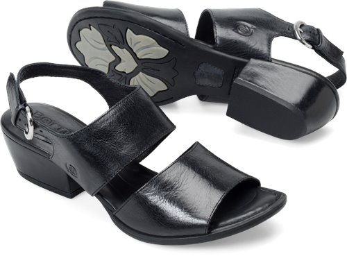 Born Ahna In Black Born Womens Sandals On Bornshoes Com