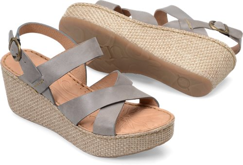 d875c288aaa0 Born Tera in Grey - Born Womens Sandals on Bornshoes.com
