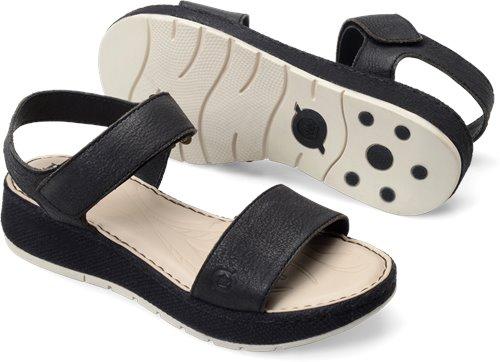 d321a2ff669f Born Petula in Black Washed Nubuck - Born Womens Sandals on Bornshoes.com. «