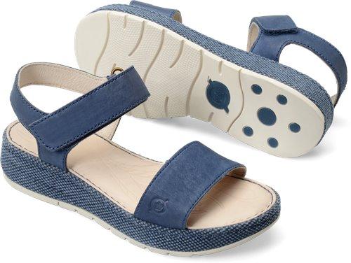 470befdd8ac8 Born Petula in Azzurro Washed Nubuck - Born Womens Sandals on Bornshoes.com