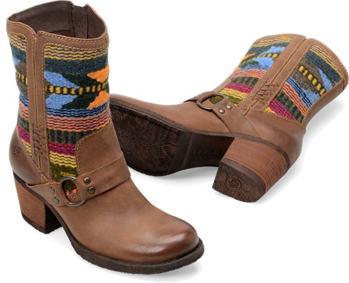 Born Panarea In Etiope Brown Wool Born Womens Boots On