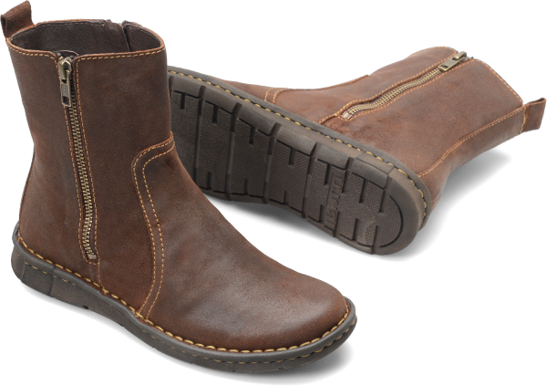 Crafted from richly distressed leather, this boot delivers casual comfort all day long. Step into the RISKO boot and step into cloud-like padding.    Distressed suede  Leather lining  EVON plus outsole  Opanka hand-crafted construction  Shaft height: 6 1/4 inches  Shaft circumference: 10 1/2 inches  Heel Height: 3/4 inch