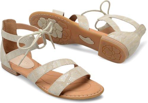 f5d9cae1bb12 Born Casma in Cream Snake Print - Born Womens Sandals on Bornshoes.com