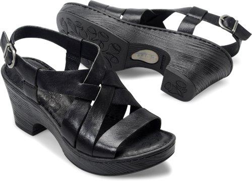 cb42c23b94a Born Carmo in Black - Born Womens Sandals on Bornshoes.com