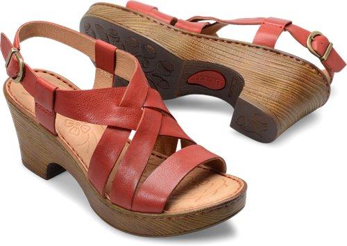 19eacc19b40 Born Carmo in Red - Born Womens Sandals on Bornshoes.com