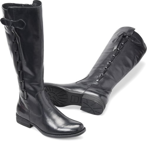1768d36948e Born Cook in Black Wide Calf - Born Womens Boots on Bornshoes.com