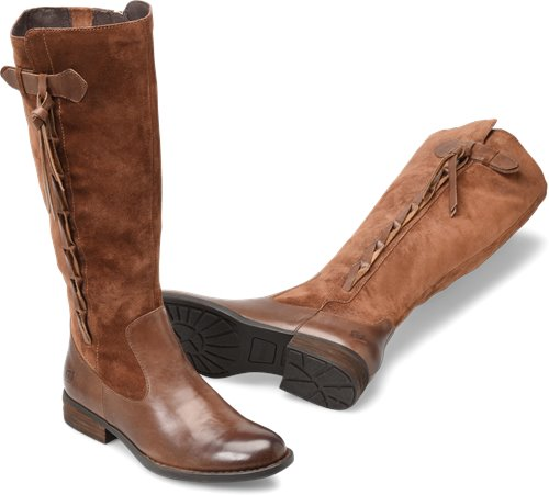 Brown Wide Calf - Born Womens Boots