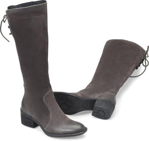 5e3649b41eb8 Born Felicia in Dark Grey - Born Womens Boots on Bornshoes.com
