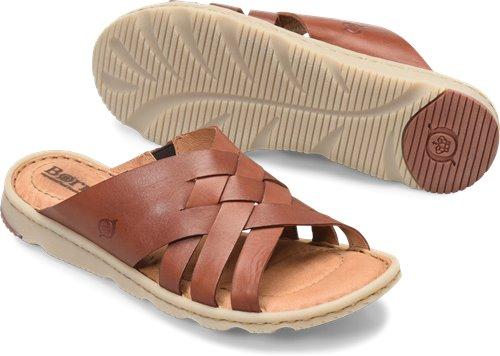 98dab318eb18 Born Tarpon in Red Brown - Born Womens Sandals on Bornshoes.com