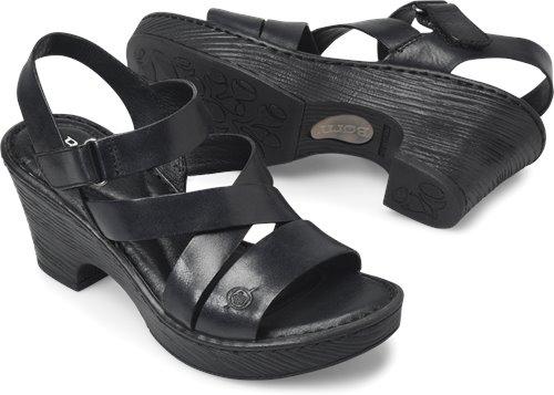 697d6bc10177 Born Cubera in Black - Born Womens Sandals on Bornshoes.com
