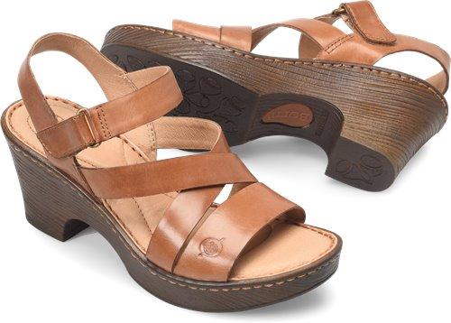 b86536a34fc2 Born Cubera in Cognac - Born Womens Sandals on Bornshoes.com