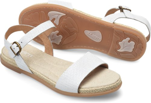 1734d8d0893b Born Welch in Bianco Embossed - Born Womens Sandals on Bornshoes.com