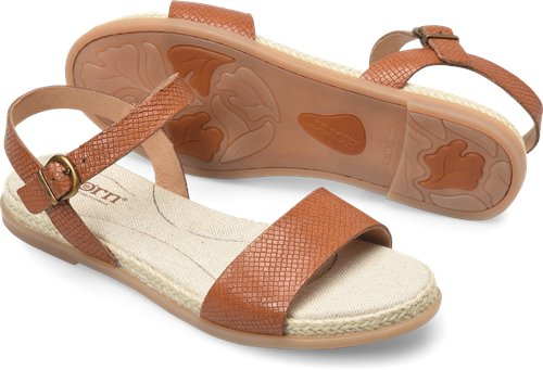 ad88bd9b951 Born Welch in Cognac Embossed - Born Womens Sandals on Bornshoes.com