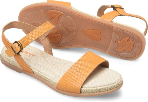 23844328a5df Born Welch in Mango Embossed - Born Womens Sandals on Bornshoes.com