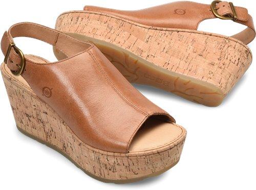 best supplier detailed images outlet on sale Born Orbit in Cognac Cork - Born Womens Sandals on Bornshoes.com
