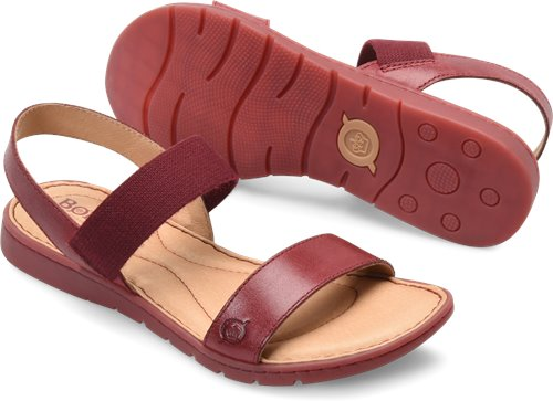 3849bb879609 Born Elstar in Scarlet - Born Womens Sandals on Bornshoes.com