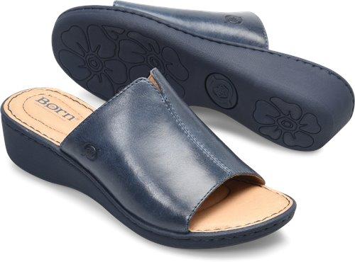 4cd2d338f3d9 Born Bernt in Midnight Navy - Born Womens Sandals on Bornshoes.com