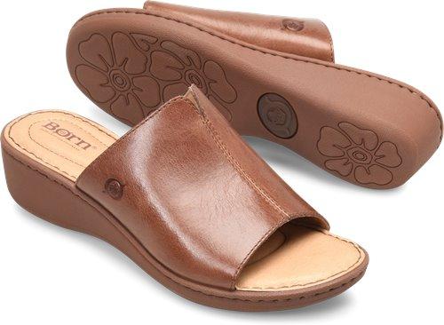 6b62206833e7 Born Bernt in Dark Cognac - Born Womens Sandals on Bornshoes.com