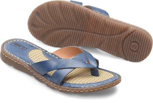 e402b4056408 Born Zaka in Blue - Born Womens Sandals on Bornshoes.com