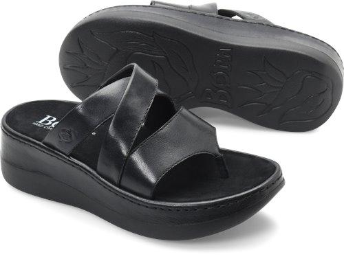 5892e6691300 Born Uinta in Black - Born Womens Sandals on Bornshoes.com