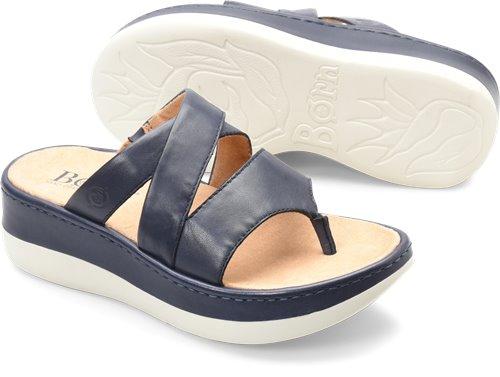 9c0bb6131ce2 Born Uinta in Peacoat - Born Womens Sandals on Bornshoes.com