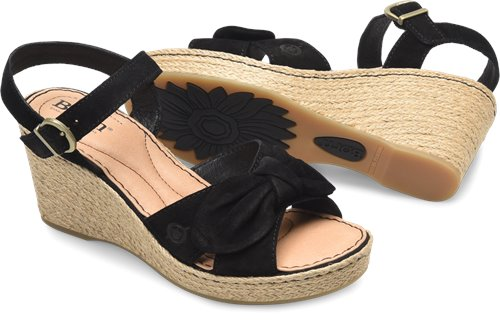 1c8cd9ad1634 Born Monticello in Black Suede - Born Womens Sandals on Bornshoes.com