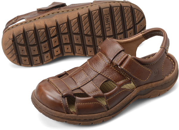 CABOT II is a classic fisherman sandal with a unique elastic webbing design to keep your foot secure all day long. Special features include a moisture-wicking footbed and a handmade construction.    Full-grain leather    Leather and fabric lining    EVON outsole    Opanka hand-crafted construction    Heel Height: 1  inches