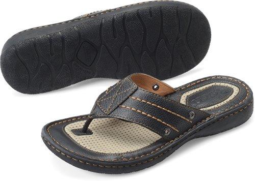 482bd7b959ee Born Jonah in Black - Born Mens Sandals on Bornshoes.com