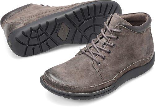 fcb44fe5cb1 Born Nigel Boot in Grey Combo Suede - Born Mens Boots on Bornshoes.com